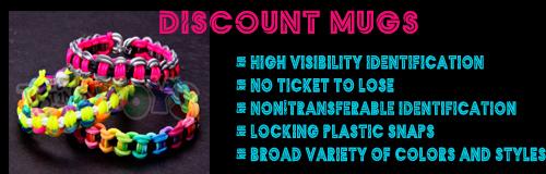 1049 discount mugs wristband