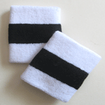 2 Color Striped Wristbands
