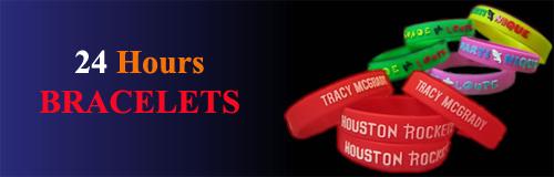 30 wristband 24 hours bracelets banner