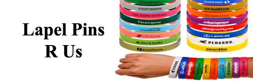 65 wristband Lapel Pins R Us banner