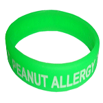 PEANUT ALLERGY Color Filled Wristband