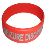 SEIZURE DISORDER Color Filled Wristband