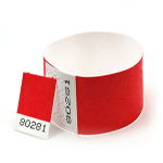 Tear off Stub wristbands