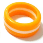 Silicone Color-Filled Thumb Ring