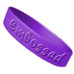 Embossed Silicone Bracelets